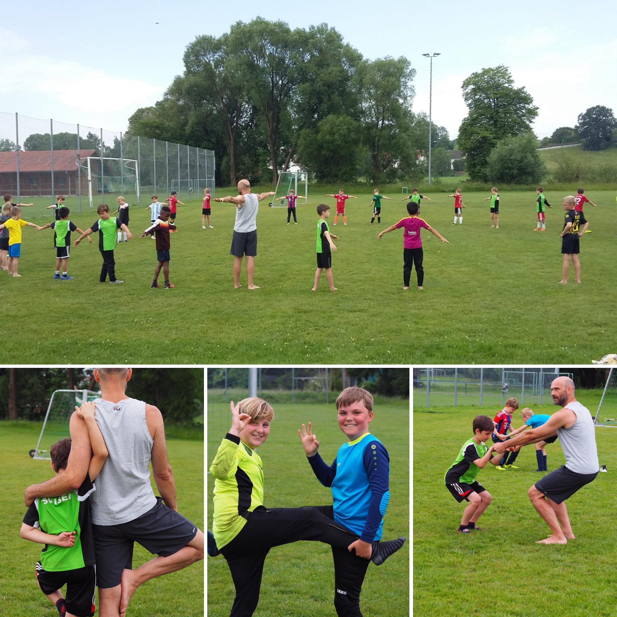 Yoga mit der Fullballjugend