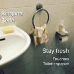 Ringana Stay fresh auf unserer Toilette